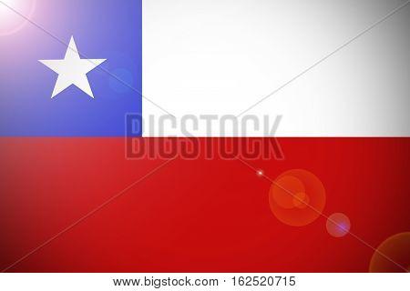 Chile flag ,Chile national flag illustration symbol.