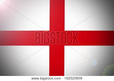 England national flag illustration symbol.  England flag