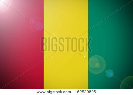 Guinea flag ,Guinea national flag illustration symbol.