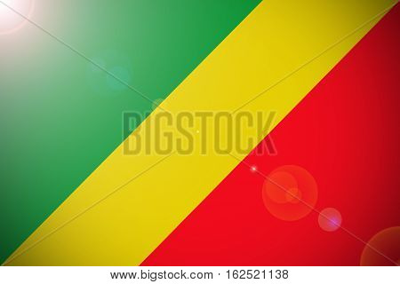 Republic of the congo flag ,Congo national flag illustration symbol