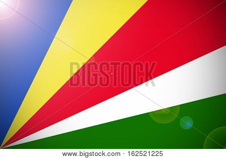 Seychelles flag ,Seychelles national flag illustration symbol