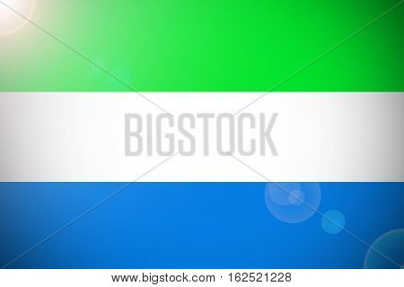 Sierra Leone flag ,Sierra Leone national flag illustration symbol