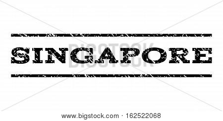 Singapore watermark stamp. Text caption between horizontal parallel lines with grunge design style. Rubber seal stamp with dirty texture. Vector black color ink imprint on a white background.