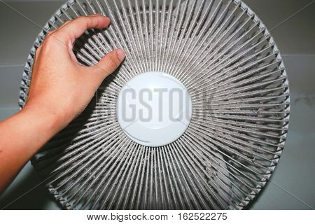 Heavy dirty attach on the electric fan