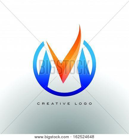Letter M Logo. Corporate M Logo vector icon.