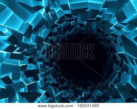 Abstract Digital Background, Black Hole