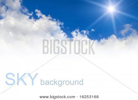 蓝色的天空背景