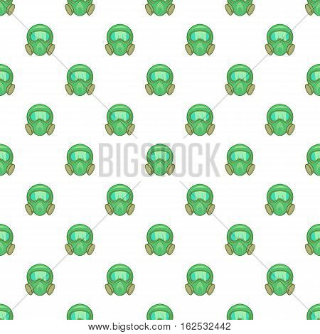 Gas mask pattern. Cartoon illustration of gas mask vector pattern for web