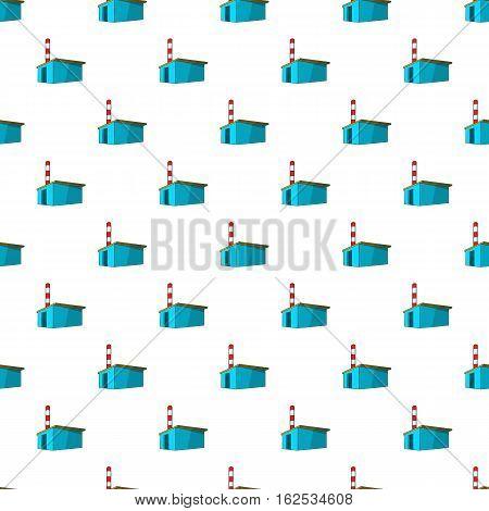 Chemical warehouse pattern. Cartoon illustration of chemical warehouse vector pattern for web