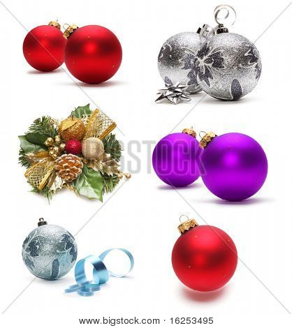 set of christmas decoration