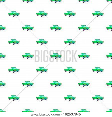 Pickup pattern. Cartoon illustration of pickup vector pattern for web