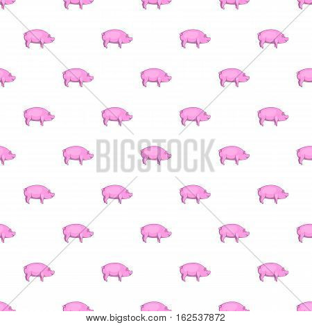 Pig pattern. Cartoon illustration of pig vector pattern for web