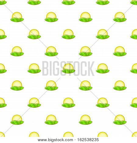 Hill and sun pattern. Cartoon illustration of hill and sun vector pattern for web