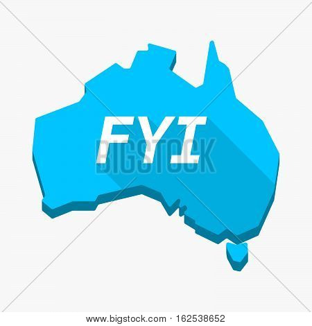 Isolated Australia Map With    The Text Fyi