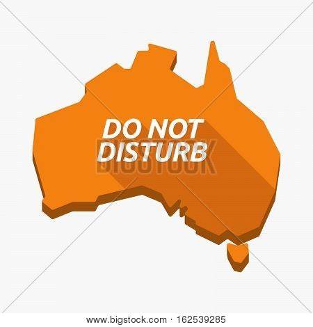Isolated Australia Map With    The Text Do Not Disturb