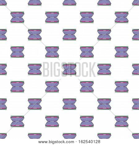 Electric grill pattern. Cartoon illustration of electric grill vector pattern for web