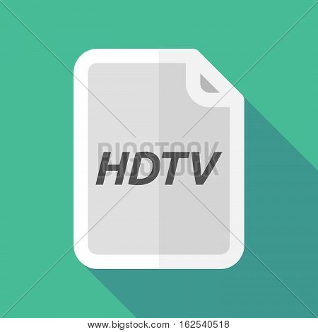 Long Shadow Document With    The Text Hdtv
