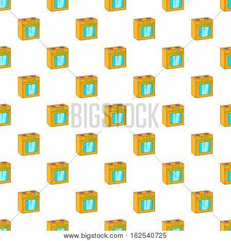 Gas stove pattern. Cartoon illustration of gas stove vector pattern for web