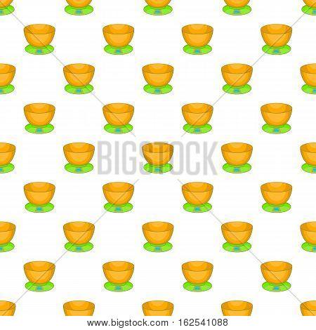Kitchen scales pattern. Cartoon illustration of kitchen scales vector pattern for web