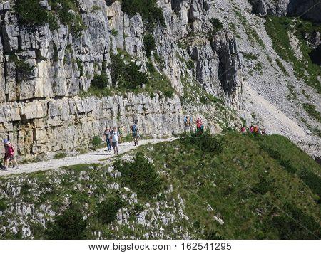 peaks mountains Valli del Pasubio Trentino Italy