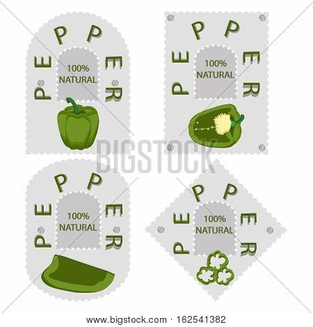 Abstract vector illustration of logo for bulgarian pepper