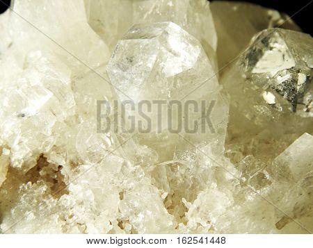 apophyllite quartz semigem geode crystals geological mineral isolated