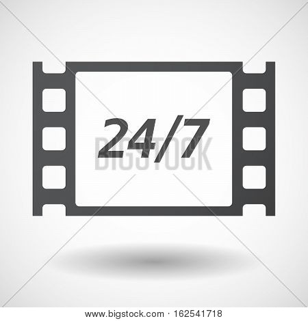 Isolated Frame With    The Text 24/7