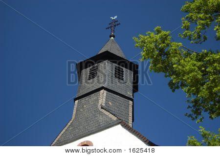 Catholic Church In Hohenecken In Spring.