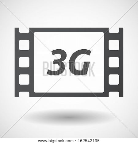 Isolated Frame With    The Text 3G