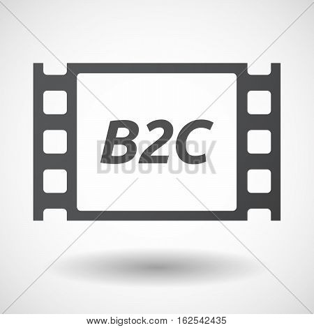 Isolated Frame With    The Text B2C
