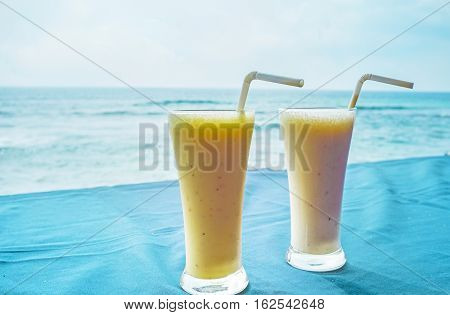The cafes and restaurants of Sri Lanka offers the popular Indian yogurt-based drink with various fruits named lassi Hikkaduwa.