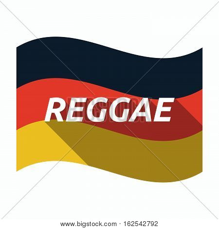 Isolated German Flag With    The Text Reggae