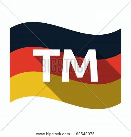 Isolated German Flag With    The Text Tm