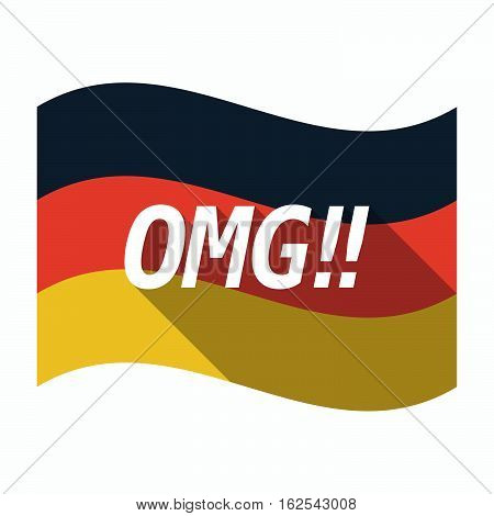 Isolated German Flag With    The Text Omg!!