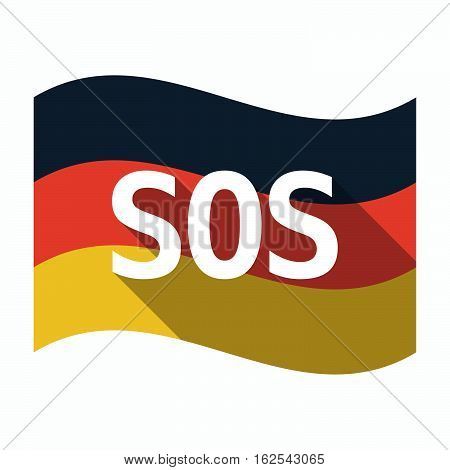 Isolated German Flag With    The Text Sos
