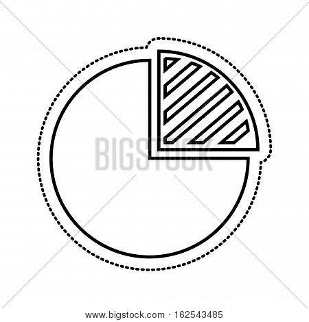 pie infographic isolated icon vector illustration design