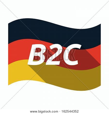 Isolated German Flag With    The Text B2C