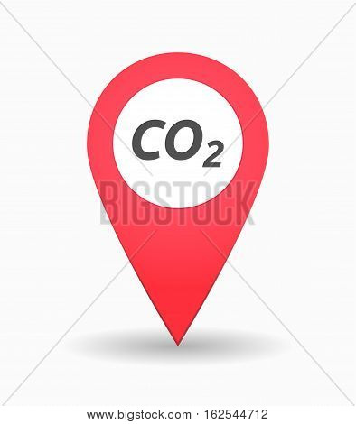 Isolated Map Mark With    The Text Co2