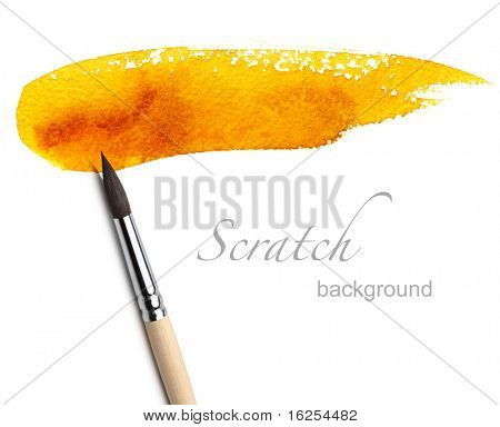 artist brush and paint scratch