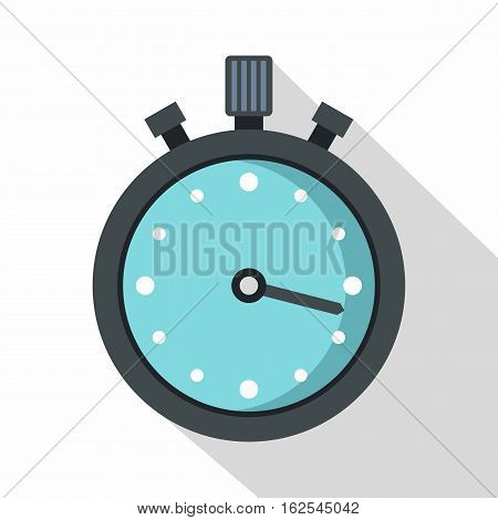 Metallic stopwatch icon. Flat illustration of stopwatch vector icon for web isolated on white background