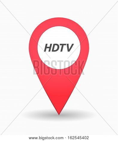 Isolated Map Mark With    The Text Hdtv