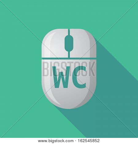 Long Shadow Computer Mouse With    The Text Wc