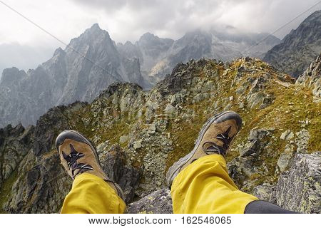 hiking in High Tatras mountains at Slovakia