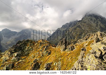 Peak Lomnicky stit in High Tatras mountains Slovakia