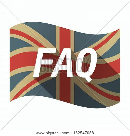 Isolated Uk Flag With    The Text Faq