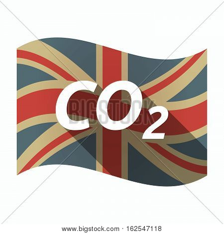 Isolated Uk Flag With    The Text Co2