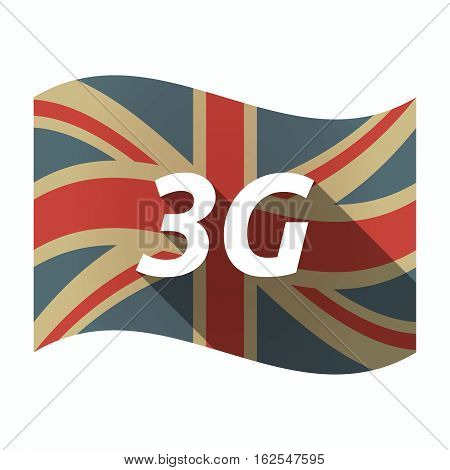 Isolated Uk Flag With    The Text 3G