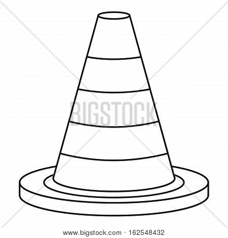 Traffic safety cone icon. Outline illustration of traffic safety cone vector icon for web
