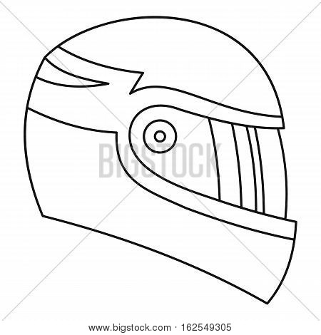 Motorcycle helmet icon. Outline illustration of motorcycle helmet vector icon for web