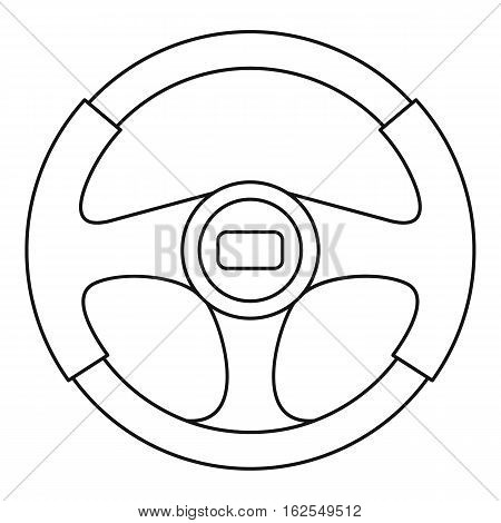 Steering wheel icon. Outline illustration of steering wheel vector icon for web